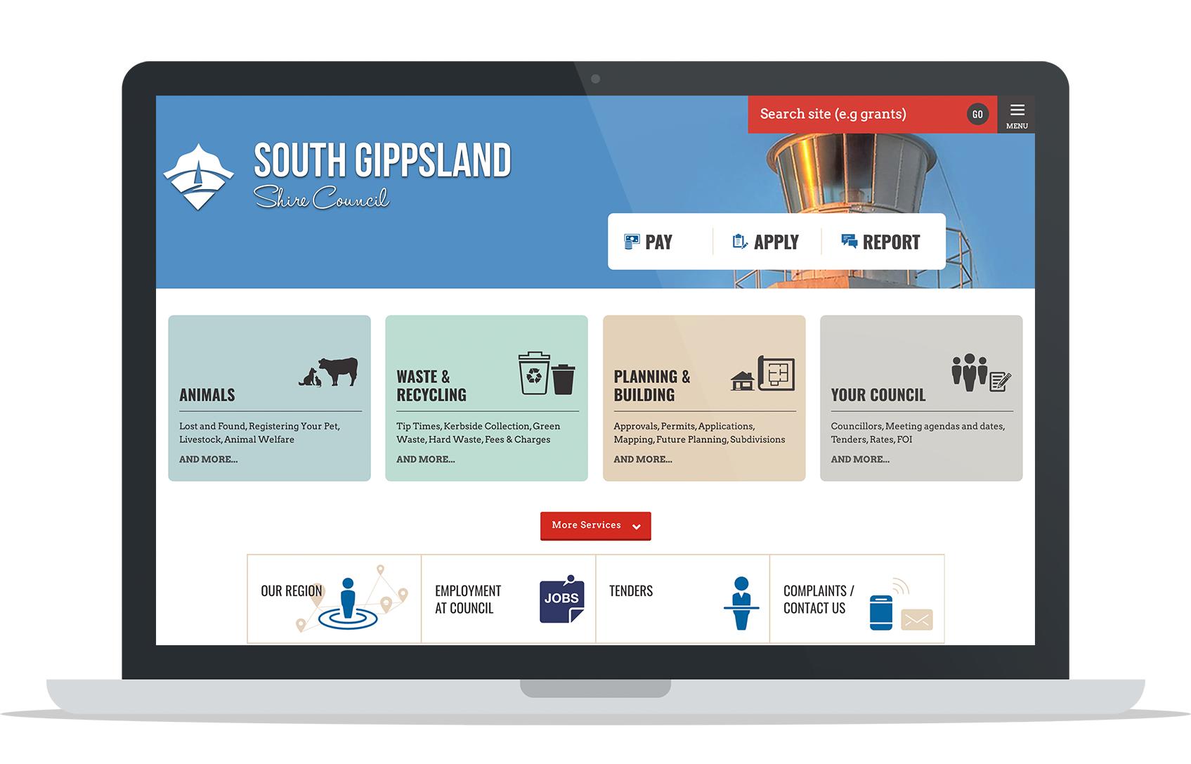 South Gippsland councils website