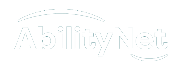 AbilityNet logo in white