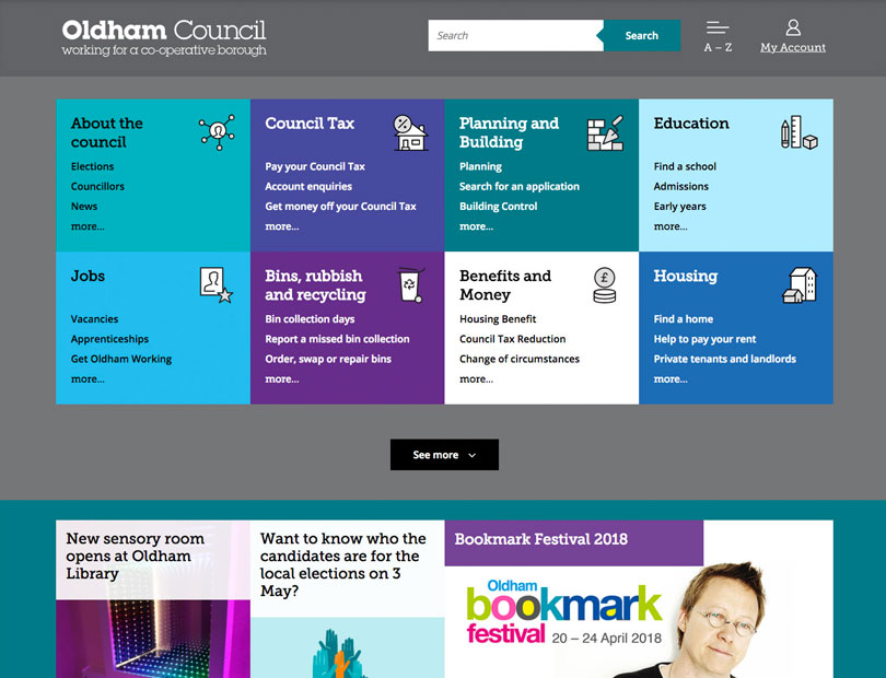 Oldham council website