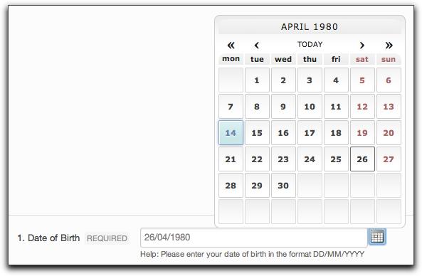 date validation javascript